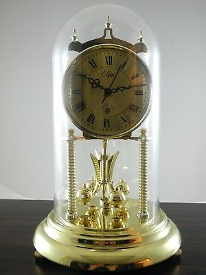Elgin Anniversary Chime Clock Magic Eye Made in Japan Glass Dome