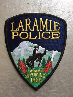 Patch Laramie Police Department Wyoming USA Shoulder Flashes New Original Rarity