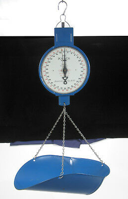 American Family scale BLUE hanging bucket basket 60 lbs produce store hardware