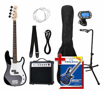 Guitare Basse Electrique Set Amplificateur Etui Cable Support Accordeur Sangle