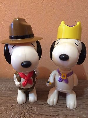 Snoopy Re + Snoopy Capo Scout - Mc Donalds Giocattoli Large anno 2000 - 14/17 cm