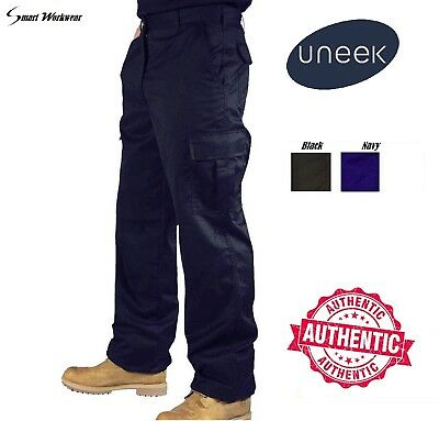 Mens Cargo Combat Work Wear Trousers  Size 28 to 52 Black & Navy Colour UC902