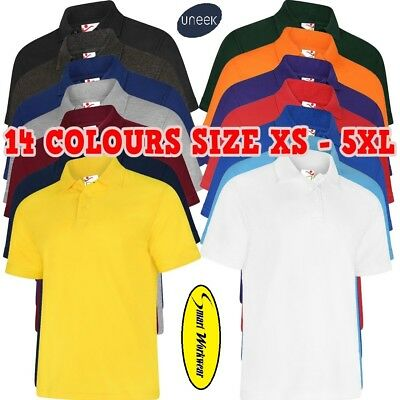 Mens Womens Deluxe Poloshirt Knitted Collar Workwear Casual Shirt XS-8XL 108 lot