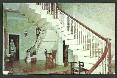 Flying Staircase in the Hall at Montpelier Thomaston Maine Chrome Postcard 1176
