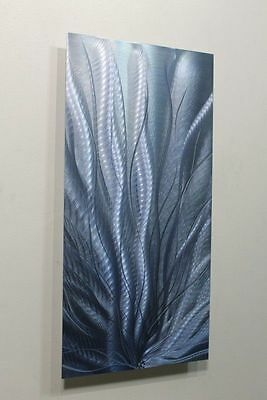 Metal Abstract Modern Painting Wall Art Sculpture - Steel Blue 2 by Jon Allen