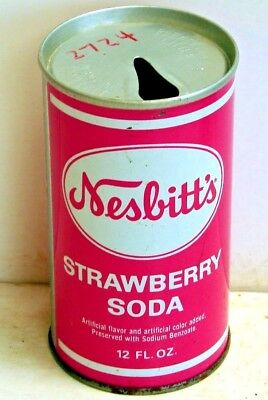 Nesbitt's Strawberry; Seven-Up Bottling Company of Oshkosh; Steel Soda Pop Can