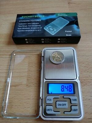 200g x 0.01g Digital Pocket Scales LCD Jewelry Balance Weighting Batt Included