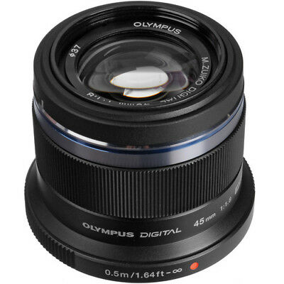 Olympus M.Zuiko Digital 45mm f/1.8 Lens (Black)