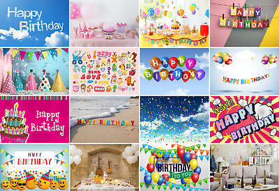 Happy Birthday Background Party Backdrop Studio Photo Decor Props Show Vinyl