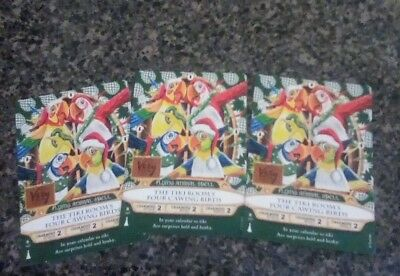 The Tiki Room's Four Cawing Birds Sorcerers of the Magic Kingdom Card Disney