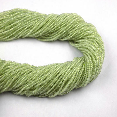 "10 Strand Natural Green Prehnite Gemstone Faceted 2mm Beads 13"" Long For Jewelry"