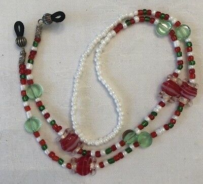 Christmas Beads Cord Strap Sunglasses Eyeglass Readers Glasses Holder Lanyard