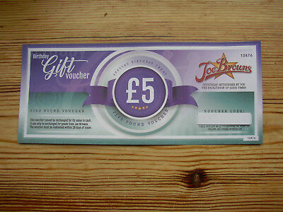 Joe Browns gift voucher £5 No min spend Expires approx 11.1.19 Can e-mail code
