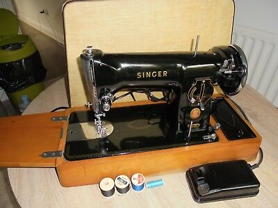 Singer 191K1 Electric sewing machine with case****SEE LEATHER SEWM SAMPLE***