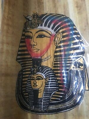 """Egyptian Papyrus Hand Made- 9"""" x 13"""" - Ancient Art - King Tut's Mask US SELLER"""