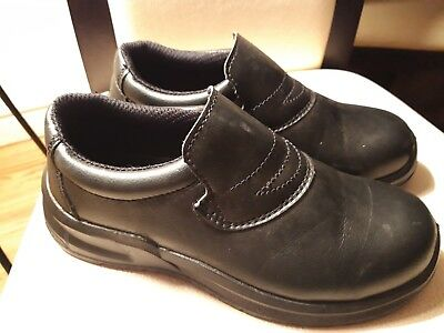 Food Industry Work Shoes Safety Chef's Catering Hospital Black Anti Slip FW81