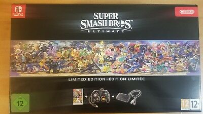 Super Smash Bros. Ultimate Limited Edition Nintendo Switch Game IN HAND