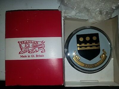 Vintage Beaulah Automotif Car Badge Barnes