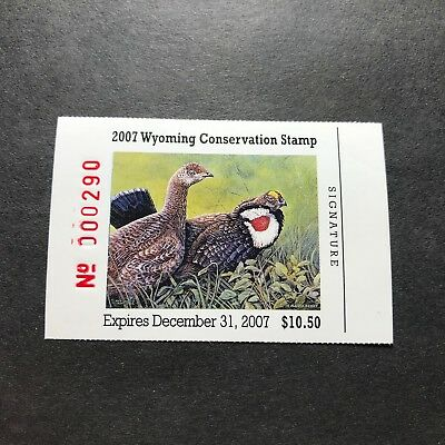 WTDstamps - WYOMING 2007 - State Duck Stamp - Mint OG NH