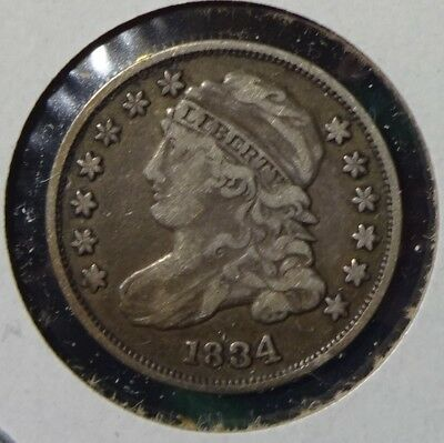 1834 Large 4 Capped Bust Dime