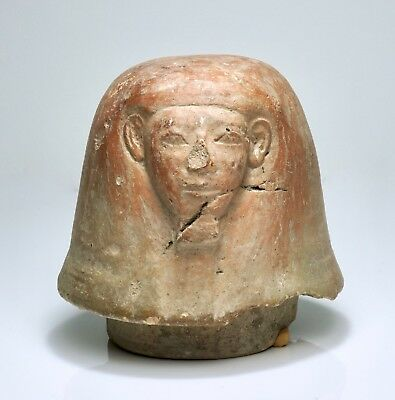 Fine Ancient Egyptian Imsety Canopic Jar Lid - Early 18th Dynasty