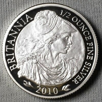 2010 UK Britannia - Proof Coin -  1/2  Oz Silver - Special Sale - Today Only