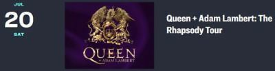 2 Tickets Queen With Adam Lambert At The Forum (Inglewood) On 7/20