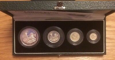 1997, Royal Mint UK, SILVER PROOF Britannia 4 Coin Collection with COA