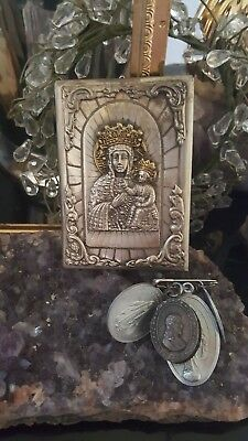 Antique 19c Russian Orthodox Icon Virgin Mary Mother of God Jesus THEOTOKOS Gift