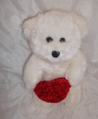 Wal Mart Walmart White Teddy Bear Valentines Day Heart Plush Stuffed
