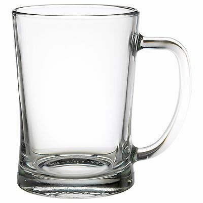 MJOD Beer Tankard Glass 60cl Pint Mug Heavy Base Handle Stein IKEA