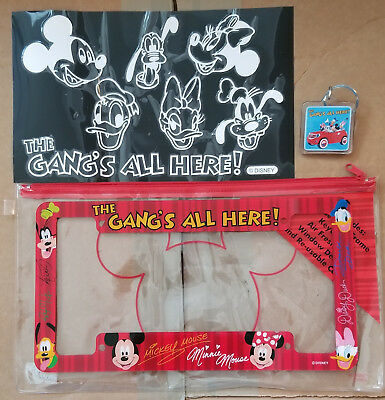 Disney License Plate Frame, Window Decal, and Keychain featuring Fab Five