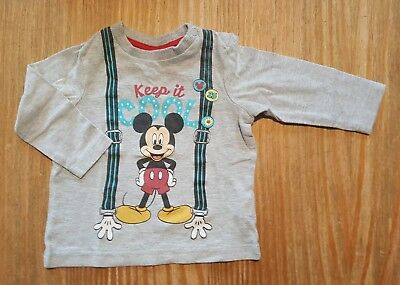T-shirt Manches Longues Mickey 6 Mois