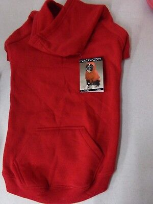 Zack & Zoey Casual Red Hoodie Dog Sweatshirt NEW Size Large