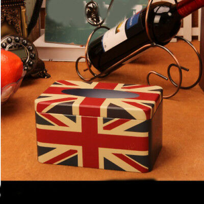E31 Retro Style Iron Toilet Bathroom Living Room Bedroom Decoration Tissue Box
