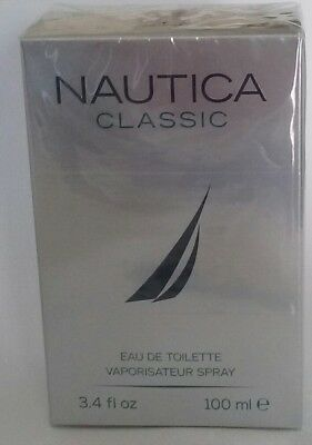 NAUTICA CLASSIC EAU DE TOILETTE for men 3.4 fl oz./100 ml.