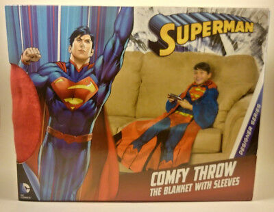 NEW COMFY THROW ADULT Superman Man of Steel Blanket with Sleeves DC ... 0f9b2ccae