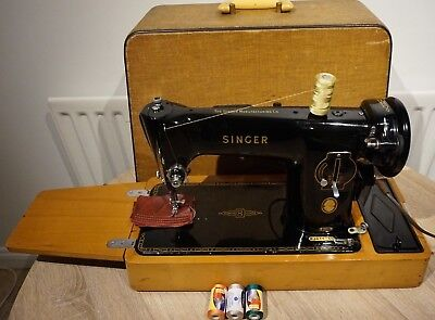 Singer 201K Electric Semi-Industrial sewing machine**SEE LEATHER SEWN SAMPLE***