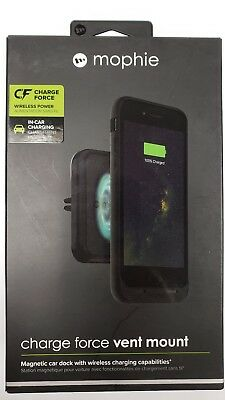 brand new ba60b 690bc MOPHIE CHARGE FORCE Car Vent Mount Magnet Wireless Charging for Samsung  iPhone