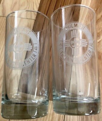 Two Philmont Scout Ranch Training Center Drinking Glassess