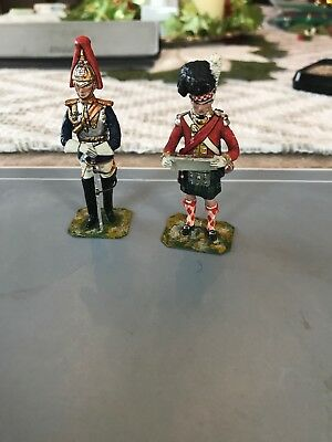2 Stadden Napoleonic British Soldiers Toy Soldier Made In England