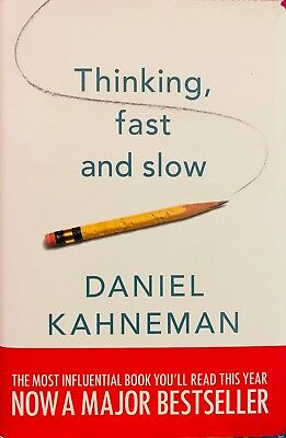 Thinking Fast and Slow by Daniel Kahneman (Hardback, 2011)  ISBN: 9781846140556