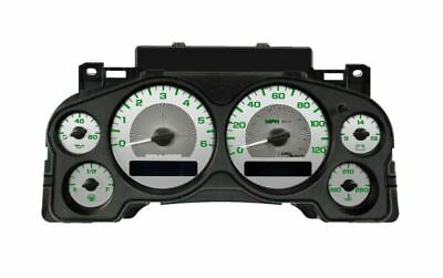 US Speedo Stainless Steel Gauge Face with Green Numbers 2007-2013 GM Truck & SUV