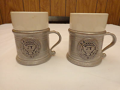 House Of Representatives Mugs Wilton Armetale Pewter With Porcelain Inserts