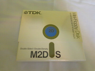 TDK M2DS Mini Floppy Disk Double Sided Double Density Sealed Box of 10 NEW