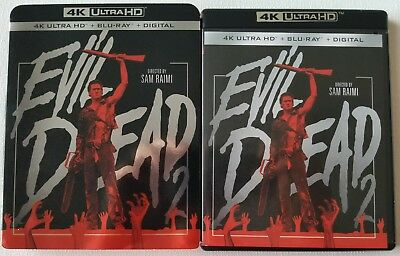 Evil Dead 2 4K Ultra Hd Blu Ray 2 Disc Set + Slipcover Sleeve Free Shipping