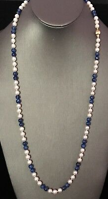 Certified $2,995 6.50-6.00 Mm Akoya Pearl Spinel 14Kt 27 3/4 In Necklace Nr‼️‼️