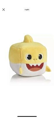 Pinkfong BABY SHARK Sound Plush Doll CUBE toy - ENGLISH SONG *RARE*