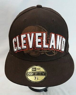c614ca9ed5eff NFL CLEVELAND BROWNS Cap Hat Brown Fitted Size 7 1 8 by New Era ...