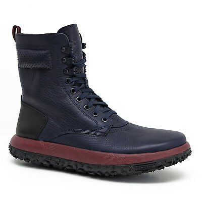 size 40 92077 281e8 NEW UNDER ARMOUR Mens UAS RLT Fat Tire Sherpa Boots Genuine Leather - Navy  Blue